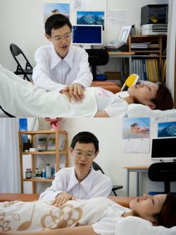 内臓、横隔膜の手当